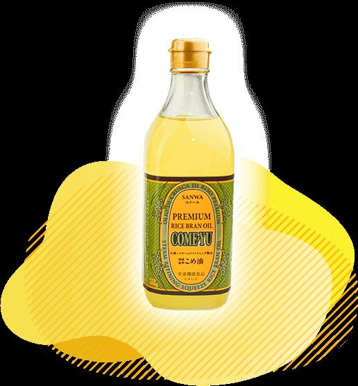 圧搾米油コメーユ450gのボトル商品画像
