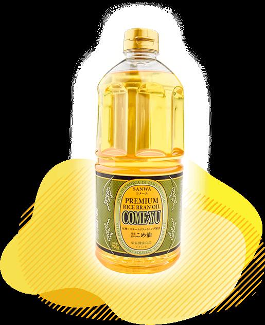 圧搾米油コメーユ920gのボトル商品画像