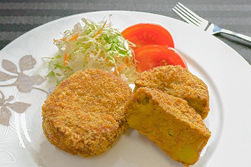 米ぬか入り 人気のカレーコロッケの写真