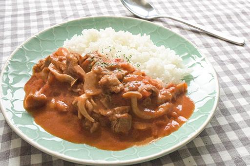 米ぬかのとろみハヤシライスの写真