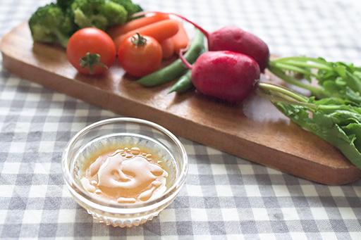 野菜のディップに みそドレッシングの写真