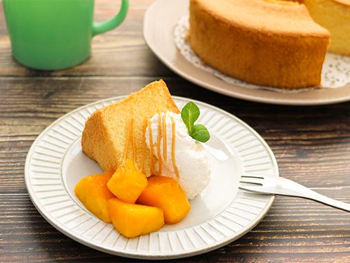 ふわふわ 米粉のシフォンケーキの写真
